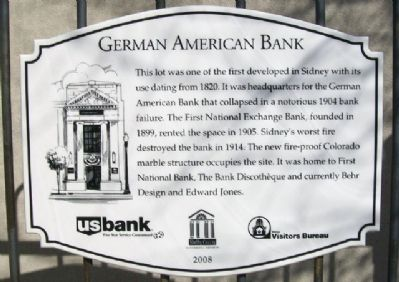 German American Bank Marker image. Click for full size.