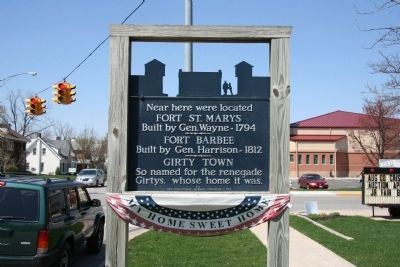 Fort St. Marys / Fort Barbee / Girty Town Marker image. Click for full size.