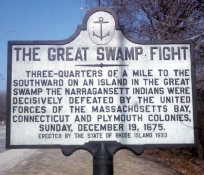 The Great Swamp Fight Marker image. Click for full size.