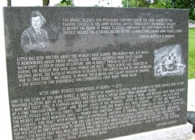 State of Ohio Korean War Memorial Nurses image. Click for full size.