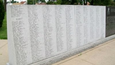 State of Ohio Korean War Memorial Honor Roll image. Click for full size.