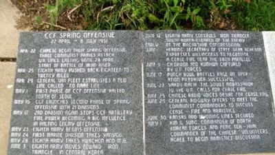 State of Ohio Korean War Memorial Chronology image. Click for full size.