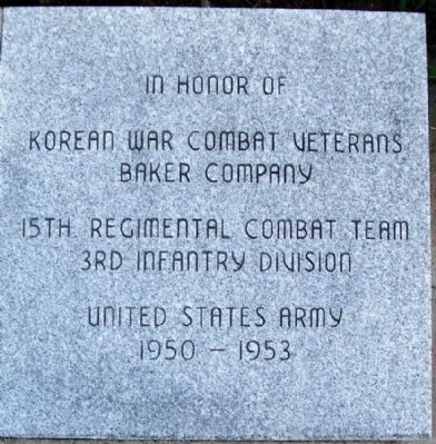 Ohio Korean War Memorial Combat Veterans image. Click for full size.