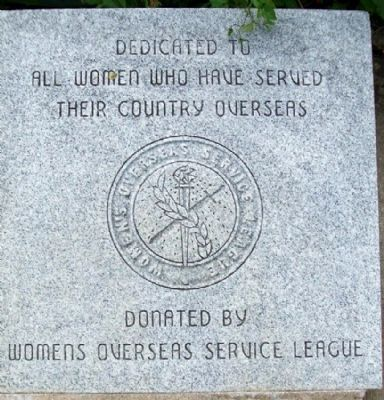 Ohio Korean War Memorial Overseas Women image. Click for full size.