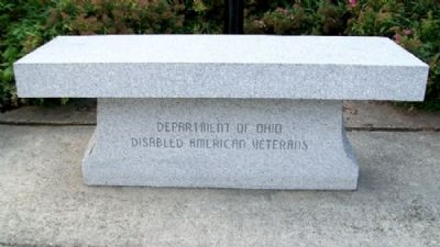 Ohio Korean War Memorial DAV Bench image. Click for full size.