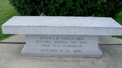 Ohio Korean War Memorial VFW Bench image. Click for full size.
