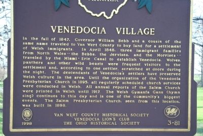 Venedocia Village Marker image. Click for full size.