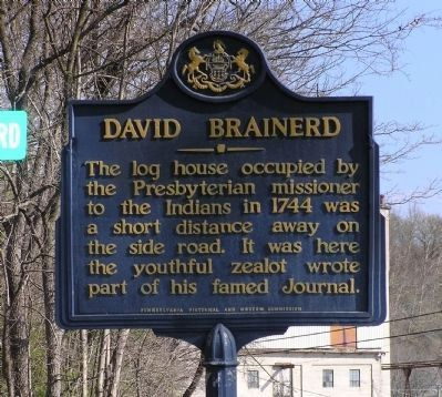 David Brainerd Marker image. Click for full size.