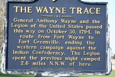 The Wayne Trace Marker image. Click for full size.