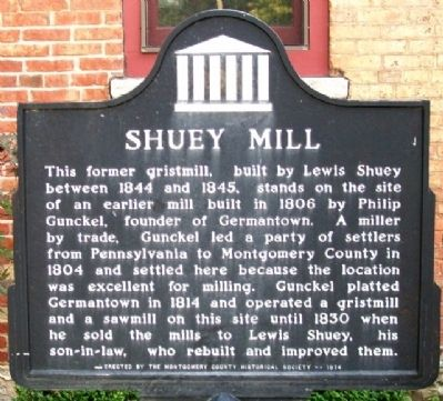 Shuey Mill Marker image. Click for full size.