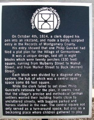 The Village of Germantown Marker image. Click for full size.