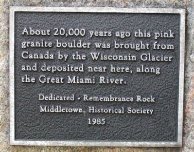 Remembrance Rock Marker image. Click for full size.