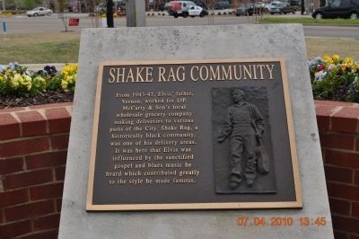 Shake Rag Community Marker image. Click for full size.