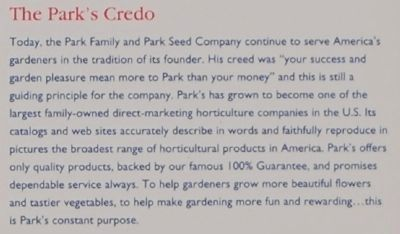 Park's -<br>The Park&#39;s Credo image. Click for full size.