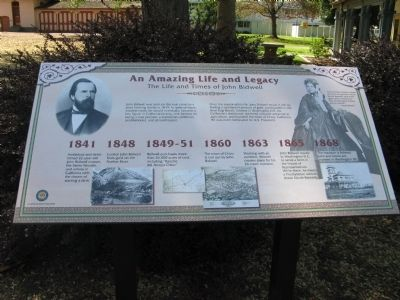 The Life and Times of John Bidwell Marker image. Click for full size.