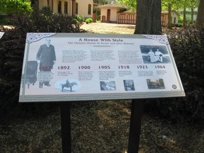 The Historic Home of Annie and John Bidwell Marker image. Click for full size.