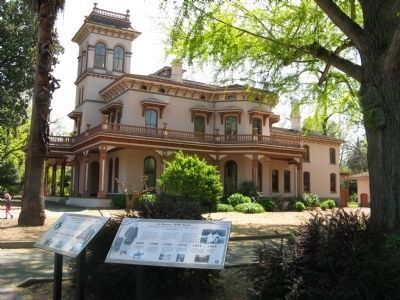 The Historic Home of Annie and John Bidwell and Markers image. Click for full size.