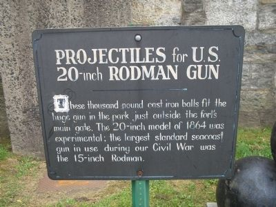 Projectiles for U.S. 20-inch Rodman Gun Marker image. Click for full size.