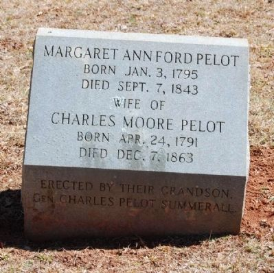 Margaret Ann Ford (1795-1843) and Charles Moore Pelot (1791-1863) Tombstone image. Click for full size.