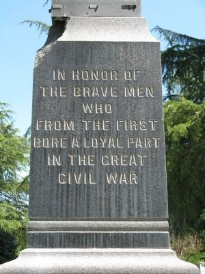 Chico Cemetery G.A.R. Monument Inscription - West Side image. Click for full size.