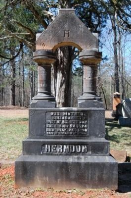 Restored Tombstone<br>Julia Conner Herndon Side image. Click for full size.