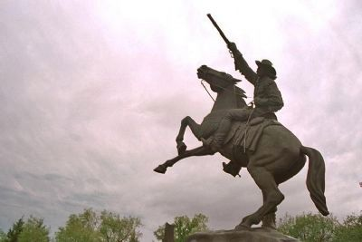Buffalo Bill's Statue, Cowboy Hall of Fame image. Click for full size.