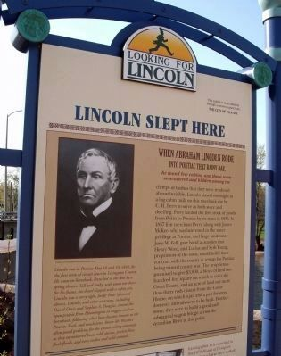 Upper Section - - Lincoln Slept Here Marker image. Click for full size.