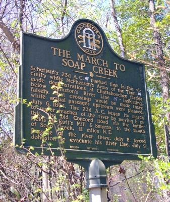 The March to Soap Creek Marker image. Click for full size.