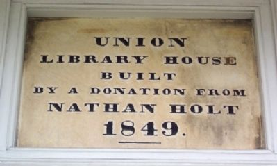 Union Library Marker image. Click for full size.