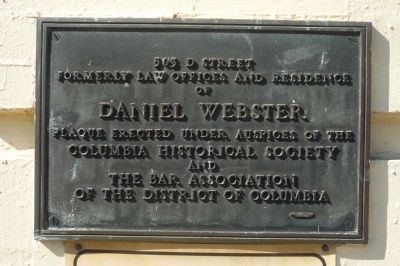 Daniel Webster Marker image. Click for full size.