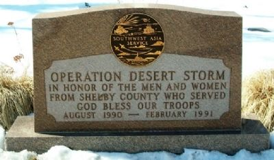Shelby County Operation Desert Storm Memorial image. Click for full size.