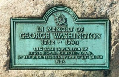 George Washington Bicentennial Marker image. Click for full size.