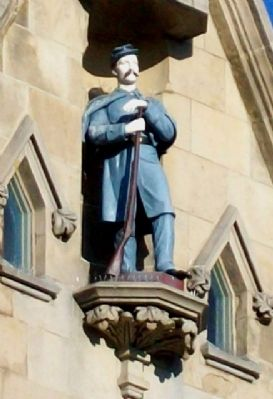 Sgt Baker Statue on Monumental Building image. Click for full size.