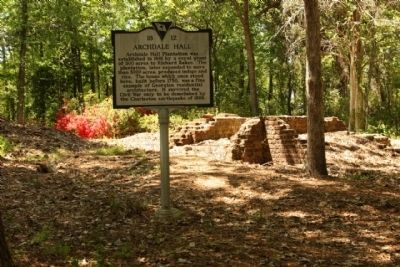 Archdale Hall ruins and Marker image. Click for full size.