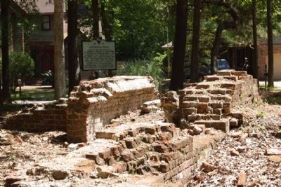 Archdale Hall Marker and ruins as seen amid today's community image. Click for full size.