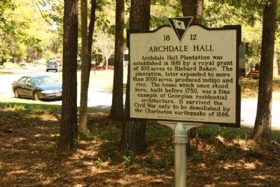 Archdale Hall Marker, image. Click for full size.