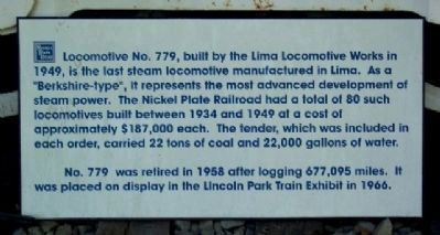 NKP Berkshire Locomotive No. 779 Marker image. Click for full size.