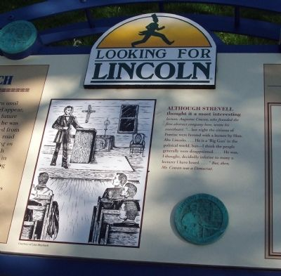 Center Section - - Lincoln Speaks at Church Marker image. Click for full size.