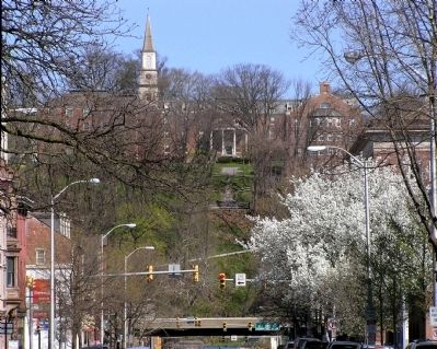 The campus of Lafayette College , on College Hill, above downtown Easton image. Click for full size.