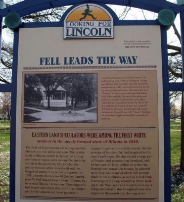 Top Section - - Fell Leads The Way Marker image. Click for full size.