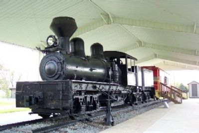 1905 Shay Engine and Marker image. Click for full size.