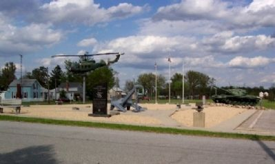 Harrod Veterans Memorial Park and Marker image. Click for full size.