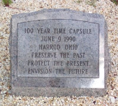 Harrod Veterans Memorial Park Time Capsule image. Click for full size.