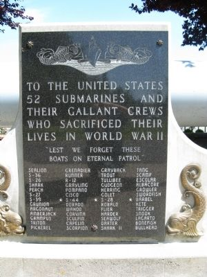 United States Submarine Crews Memorial Marker image. Click for full size.