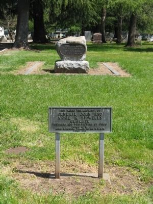 General John and Annie K. Bidwell Gravesite and Marker image. Click for full size.