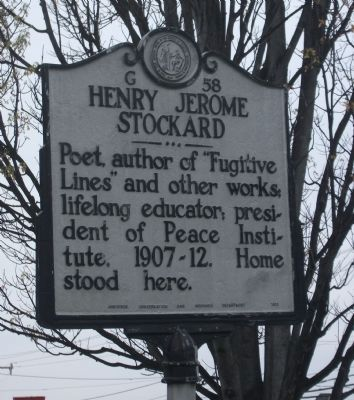 Henry Jerome Stockard Marker image. Click for full size.