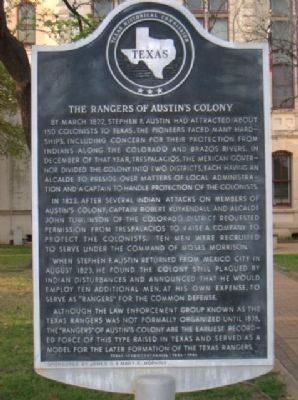 The Rangers of Austin's Colony Marker image. Click for full size.