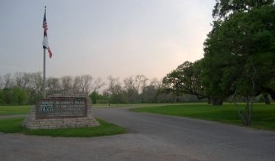 Entrance to Beason's Park where markers are located. image. Click for full size.