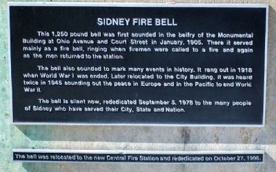 Sidney Fire Bell Marker image. Click for full size.