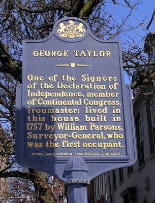 George Taylor Marker image. Click for full size.